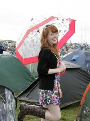 Aisling Orr from Tipperary enjoying Oxegen 2010
