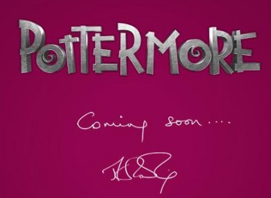 A screen shot of the mysterious Pottermore website