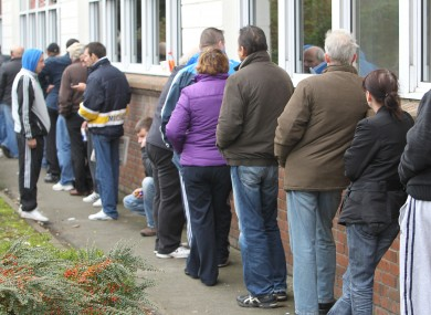 Dole queues in Ireland (File photo)