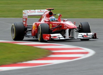 Fernando Alonso in action at Silverstone