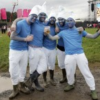 Pictured, from left, Colm Armstrong, Ben Mathewson, Craig Hogg, Richard McAllester and Andrew Kirk from Antrim the Main Stage today at Oxegen 2011. (Mark Stedman/Photocall Ireland)