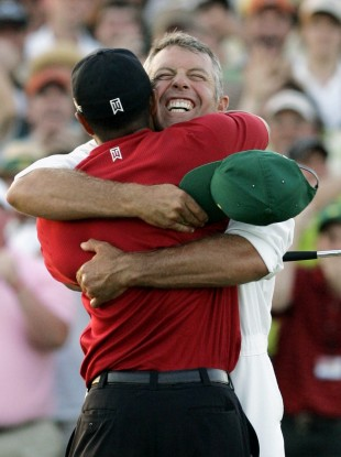 The look of love: Tiger and Stevie in happier times