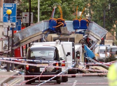The scene of the Tavistock Square bus explosion in the 7/7 London bombings in 2005.