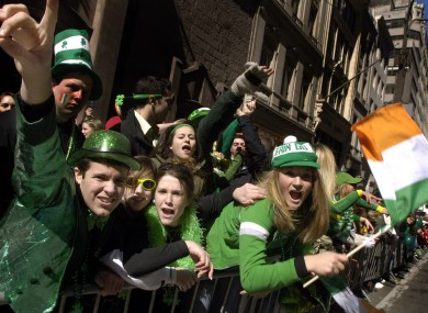 Revellers in New York at the 2006 St Patrick's Day Parade