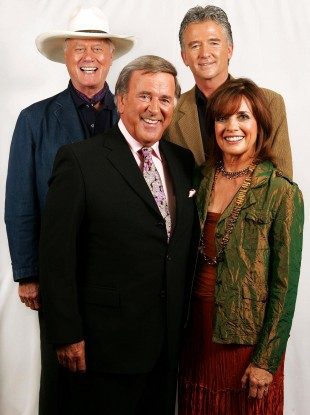 Larry Hagman, Patrick Duffy and Linda Gray all reprise their roles. Terry Wogan will not be featuring. (File photo)