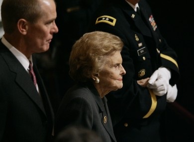 The late Betty Ford, pictured in 2007 at the funeral of her husband, former US president Gerald Ford.
