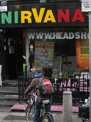 Head shops have been outlawed in Ireland, but Ireland youth's are still more likely to have taken 'legal high' drugs than those of any other EU country.