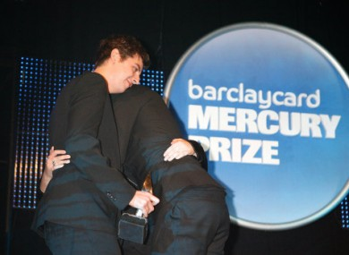 The XX celebrate their win at the 2010 Mercury Prize awards ceremony.