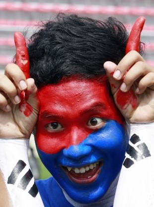 A South Korean supporter.
