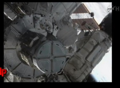 The final space walk of the NASA space shuttle era.