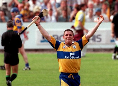 Clare celebrate victory over Tipp in the 1997 Munster SHC Final.