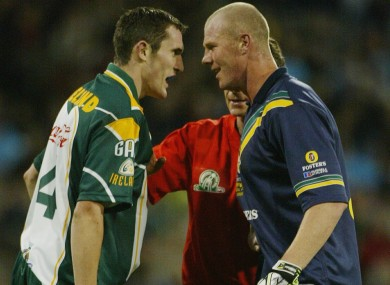 Graham Canty squares up to Hall in Australian, 2003.