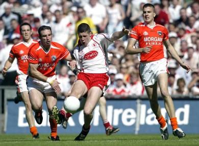 Tyrone's Sean Cavanagh against Armagh in 2005 at Croker.