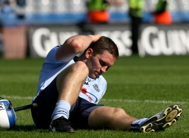 Keaney contemplates defeat to Kilkenny in the Leinster SHC Final.
