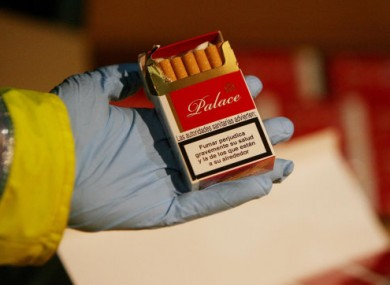 Yesterday's seizure included cigarettes marked with the 'Palace' brand, like this packet seized by Customs in 2009
