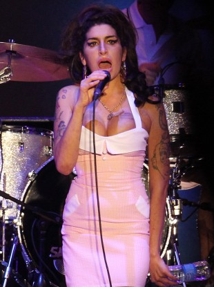 Amy Winehouse performing in January