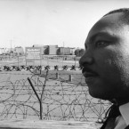Reverend Martin Luther King, American civil rights leader, visited Berlin in 1964. 