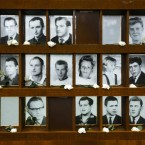 There is no definitive number of how many people died trying to cross the Berlin Wall but researchers believe it is between 150 and 200.   The area where people were killed or died in escape attempts was infamously known as the Death Strip.   Portraits of some of these victims are displayed at the Berlin Wall Memorial at Bernauer Strasse in the city.