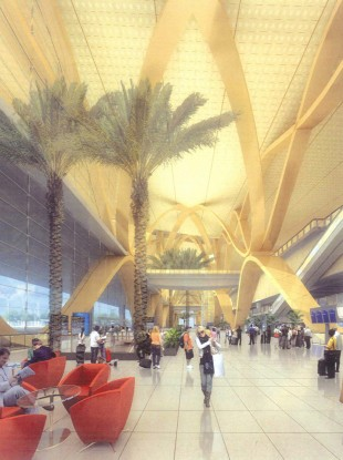 An artist's depiction of the departure hall in the new Kunming Changsui International Airport.