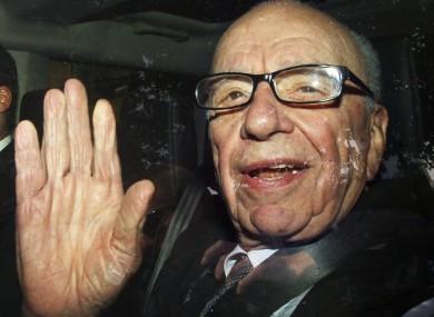 Rupert Murdoch being driven away from News International
