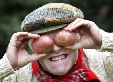 Comedian Pat McDonnell ('Spud O'Brien' from RTÉ's Savage Eye) helps to promote National Potato Day, which takes place this Thursday.