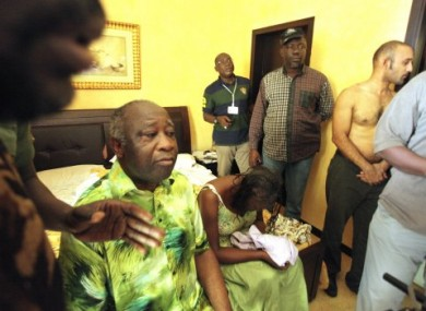 Laurent Gbagbo and his wife on 11 April when they were captured and arrested by forces loyal to the democratically-elected Alassane Ouattara