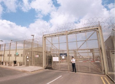 File photo of the external gates of Maghaberry Prison