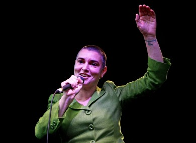Sinead O'Connor performing in Dublin in 2008
