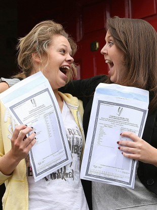 Students at Loreto School in Dublin get their results (File photo)