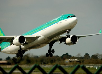 An Aer Lingus flight takes off from Dublin