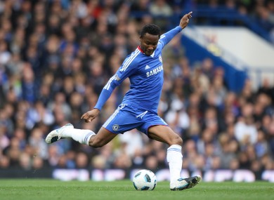 John Mikel Obi in action for Chelsea.