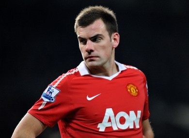 Gibson has struggled to hold down a place in the United first team.
