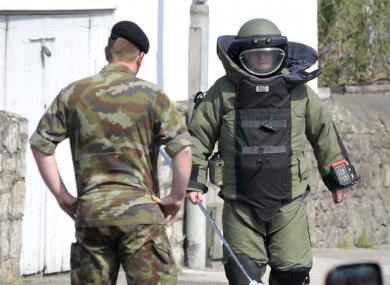 File photo of members of the Army Bomb Disposal Unit, which was deployed to Tallaght overnight.