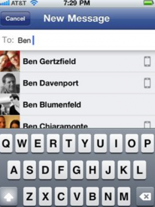 The new 'Facebook Messenger' will essentially merge your phonebook and your Facebook Friends list.