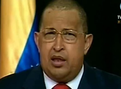 Chavez pictured on television on 1 August
