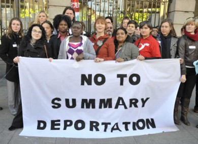 File photo of 2010 protests against deportation