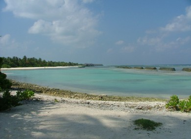 Kuredu island, where the accident happened