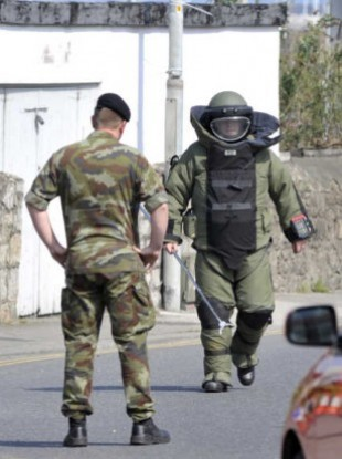 File photo of the Army Bomb Disposal Team in action.