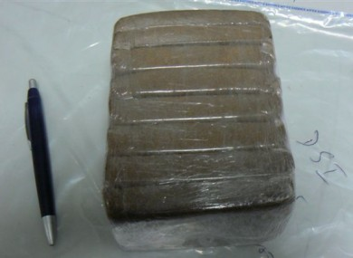 The cannabis resin found in Dublin Airport yesterday.