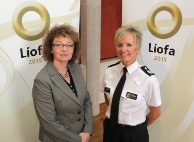 Culture Minister Carál Ní Chuilín and Deputy Chief Constable Judith Gillespie