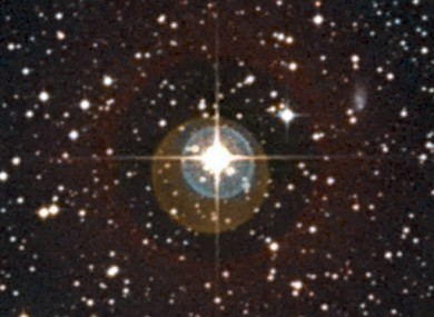 Undated handout image provided by the European Southern Observatory of a close-up of the sky around the star HD 85512.