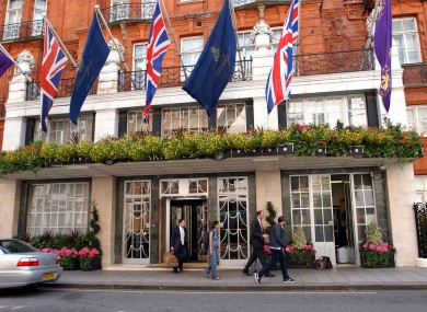 The famous Claridges hotel in London is one of those involved in today's major deal.