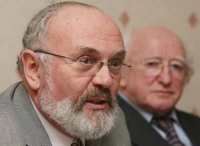 David Norris and Michael D Higgins in 2006.