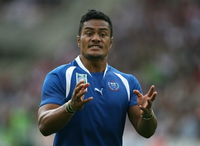 Fuimaono-Sapolu has gotten intto trouble with Gloucester in the past for expressing controversial thoughts on Twitter.