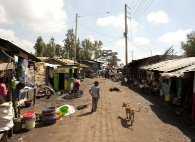 File photo of a street in a Nairobi slum