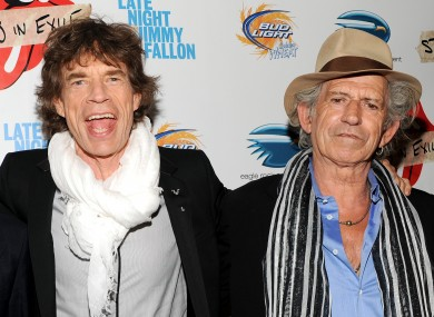 Jagger and Richards in happier times.