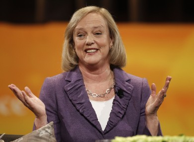 Meg Whitman is in at HP.