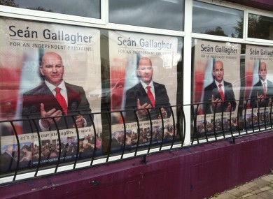 Seán Gallagher campaign posters in Cavan town today.