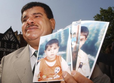 File photo from 2004 of Daoud Mousa, the father of Baha Mousa who was killed while in the custody of British soldiers.