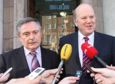 Brendan Howlin, left, and Michael Noonan